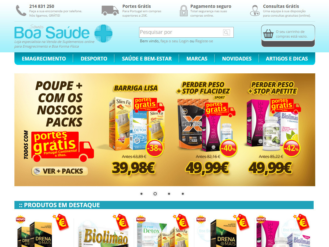 Boa Saúde - Online Store for Sale of Supplements