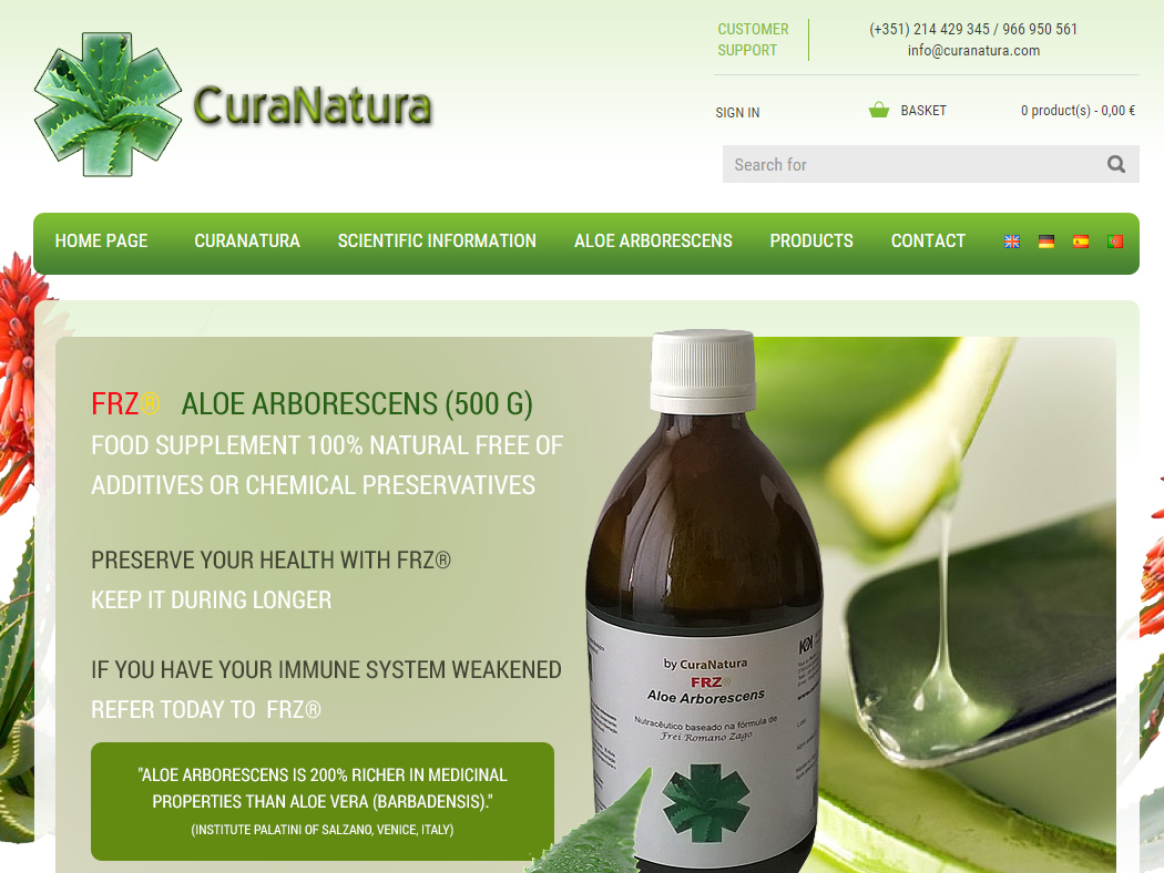 Cura Natura - Natural Products to strengthen the human immune system