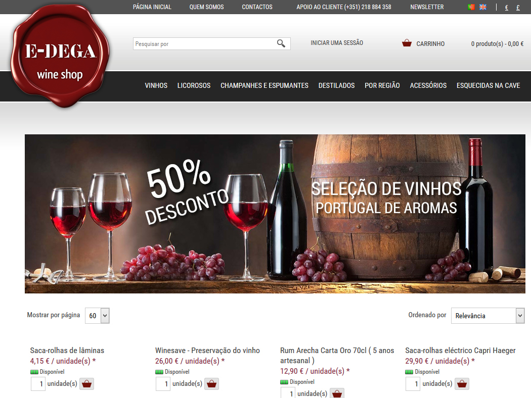 E-dega.pt - Shop online for Alcoholic Beverages