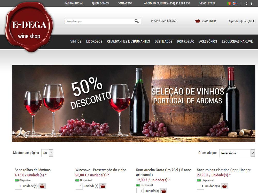 E-dega.pt - Online-Shop für alkoholische Getränke - Viamodul