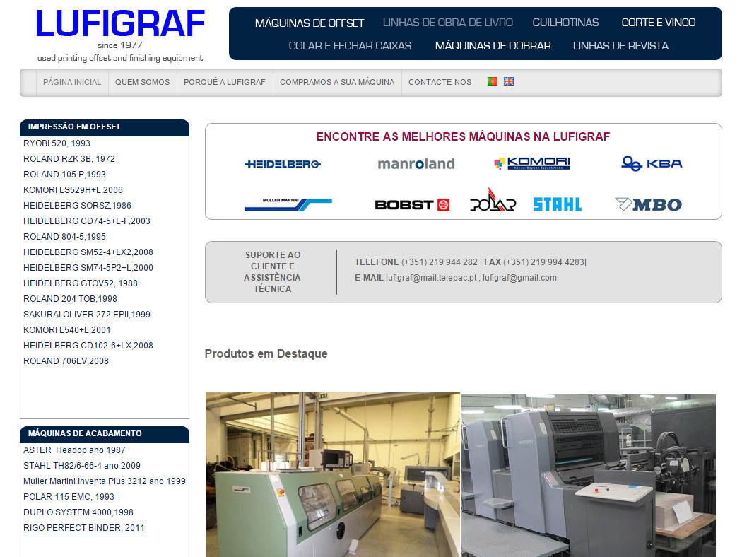 Lufigraf - Sale of Printing and Finishing Machines