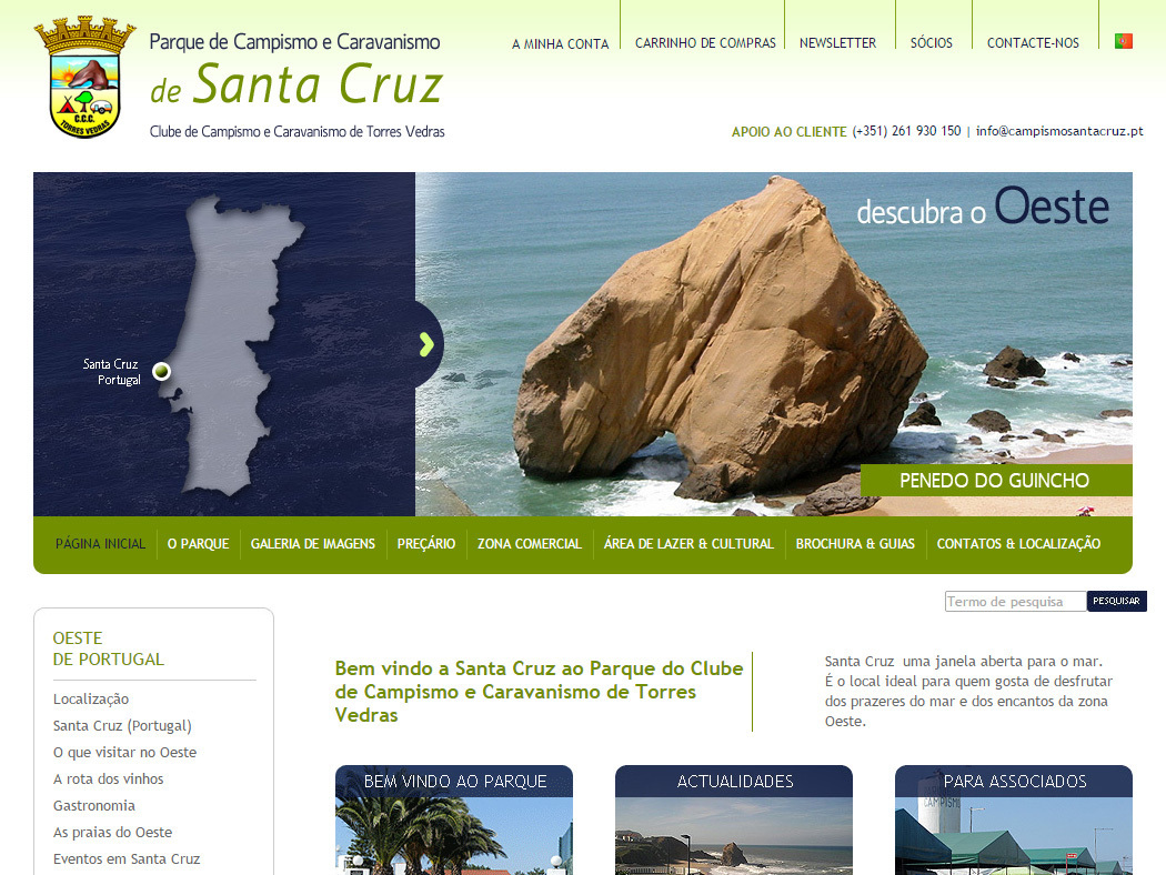 Camping and Caravanning Santa Cruz - Portugal