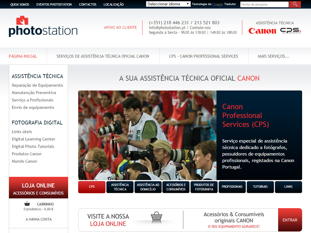 Photostation - Technical Assistance for Canon Equipment