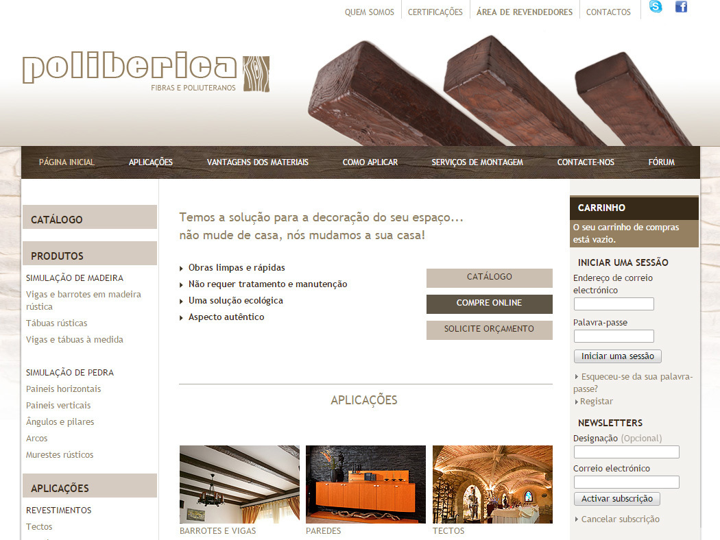 Poliberica - Interior and exterior decoration with lifelike wood and stone imitations