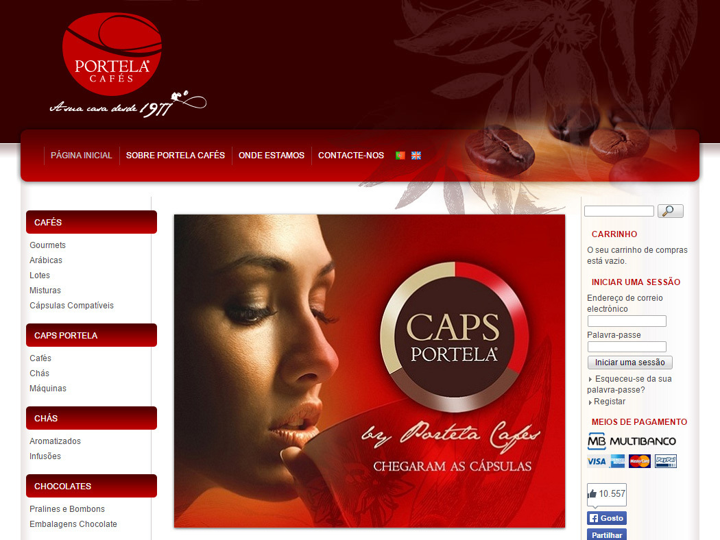 Portela Cafés - Online store for Coffees, Teas and Chocolates