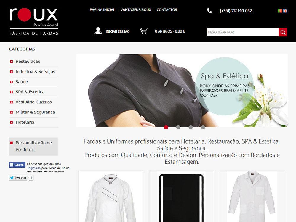 8e459c4992e7e Roux Professional - Loja online de Fábrica de Fardas e Fardamento ...