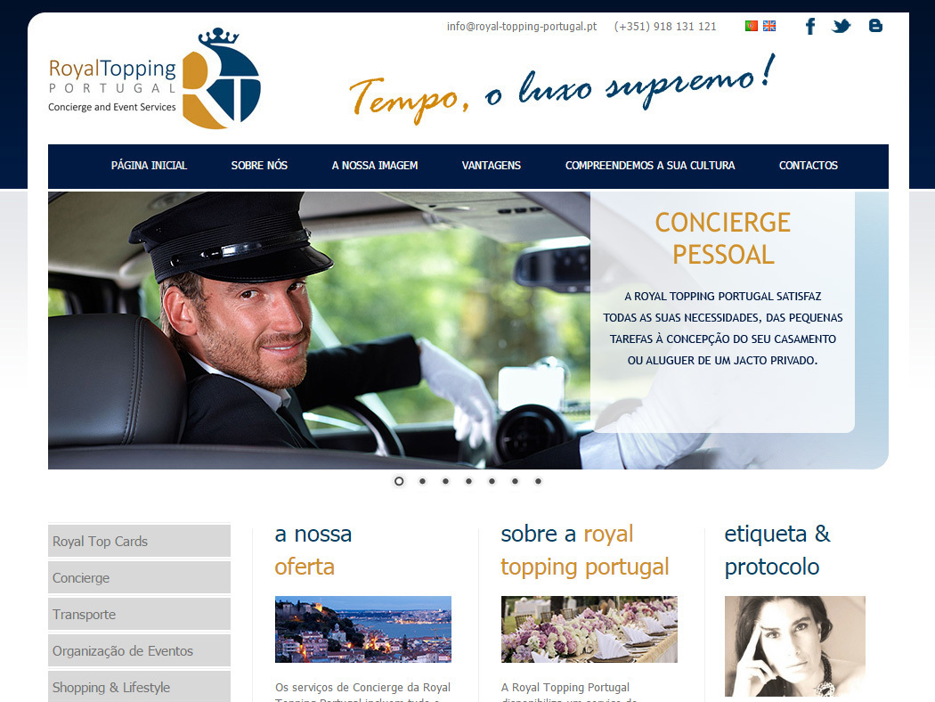 Royal Topping Portugal - Concierge und Event-Organisation Dienstleistungen