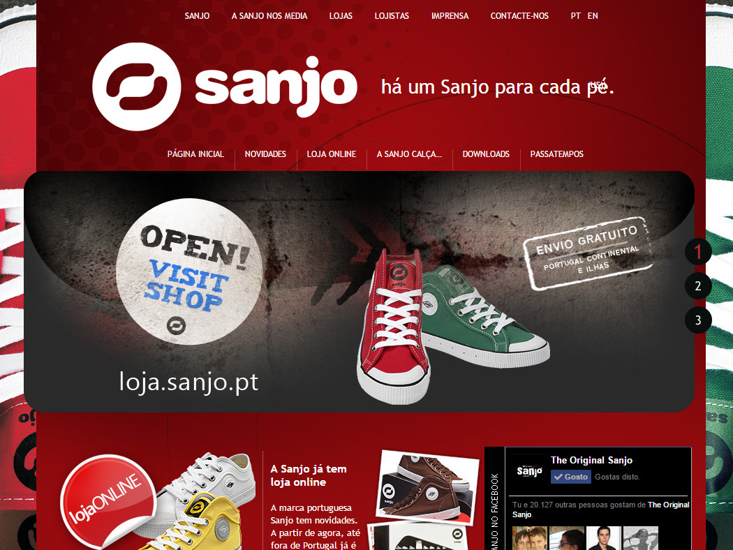 Sanjo - Web Site of the Famous Portuguese Sneakers