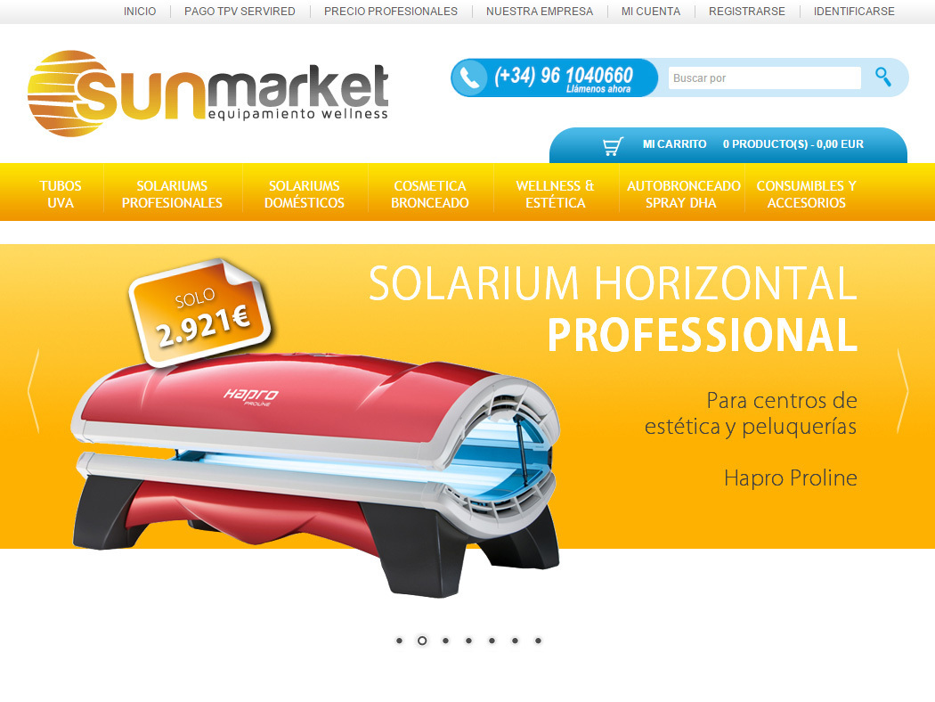 Sun Market - Online shop for Solariums and Tanning Cosmetics