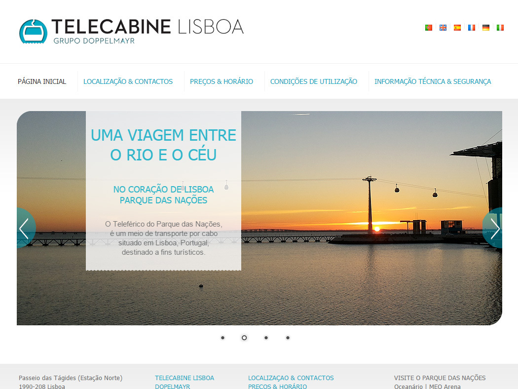 Telecabine Lisboa - Doppelmayr Group Cable car in Lisbon's Former Expo Park