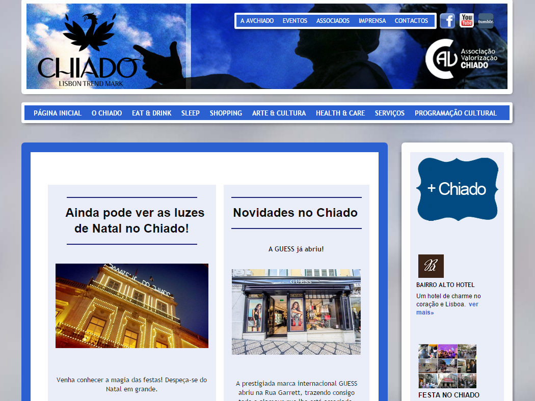 Visit Chiado - Website of the Association of Traders of Chiado, Lisbon