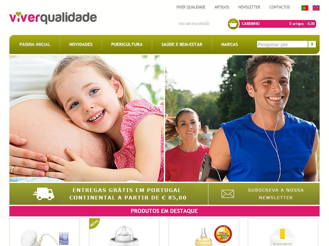Viver Qualidade - Online Store for Health and Welfare Articles and Child Care