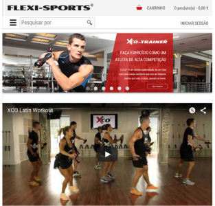 flexi sports epages online shop com design responsivo